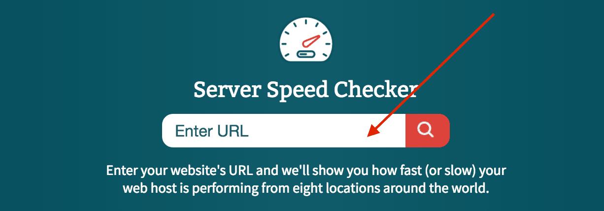 Teste de velocidade do servidor