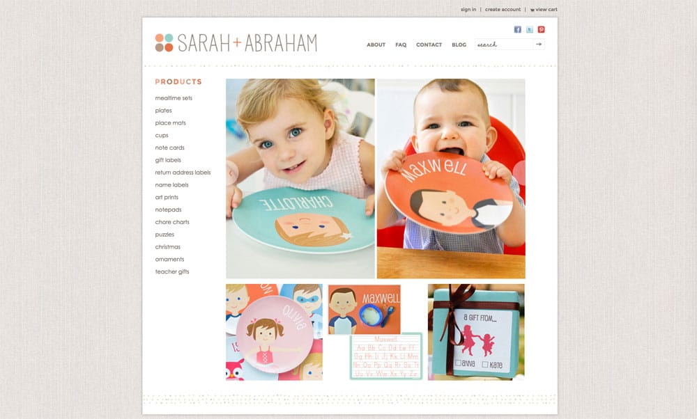 Loja no Shopify - Sarah Abraham