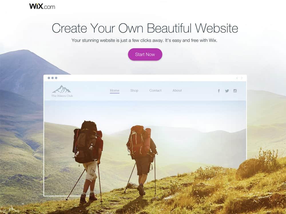 Crie um site bonito com o Wix