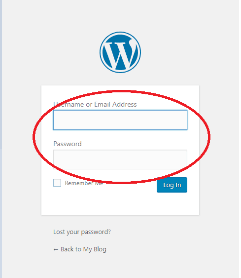 login do WordPress
